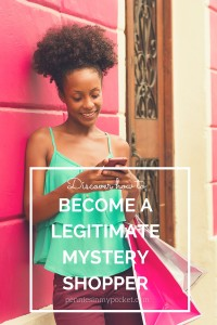 How to become a Legitimate Mystery Shopper