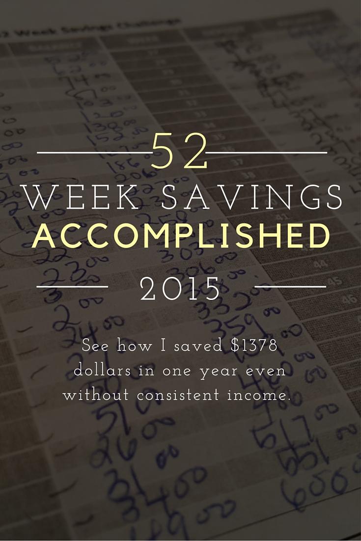 52 Week Savings Accomplished