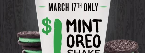 $1 Mint Oreo Shakes at PDQ