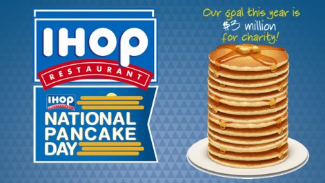 free pancakes at ihop - national pancake day