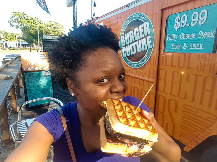 Come sample the Waffle Burger at Burger Culture with PenniesInMyPocket.com